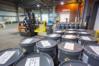 "Uranium concentrate (""yellowcake"") drums ready for shipment at Orano's McClean Lake mill"