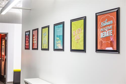 Watershed lives by five core values. And we're so serious about it, we put 'em on the wall.