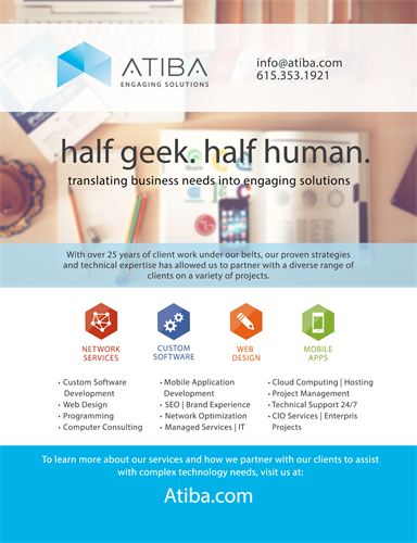 Atiba Nashville Software Development and IT Services