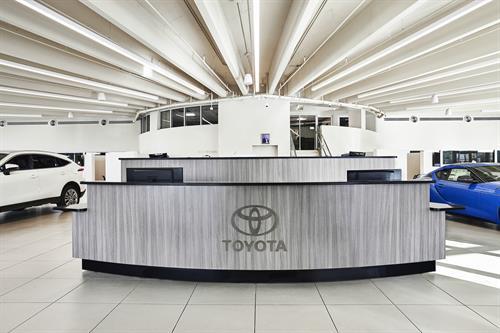 Kendall Toyota Reception Area