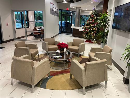 Lexus of Kendall service waiting area