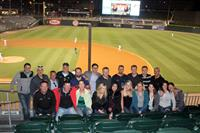 Work hard. Play hard. Some of the incredible Optomi team at a Charlotte Knights game!