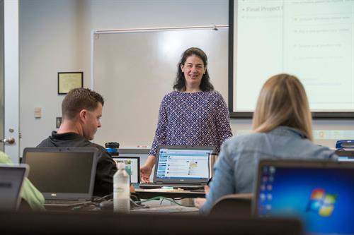 Dr. Elizabeth Baker teaches the 5-day Salesforce Administrator Course in May 2017