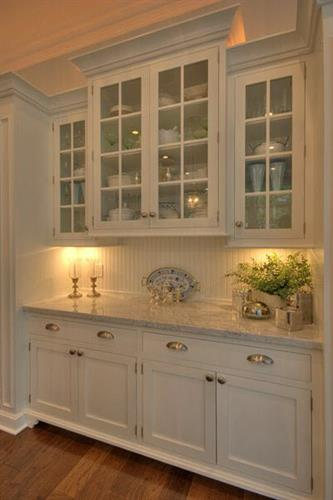 White Kitchen under cabinet lighting