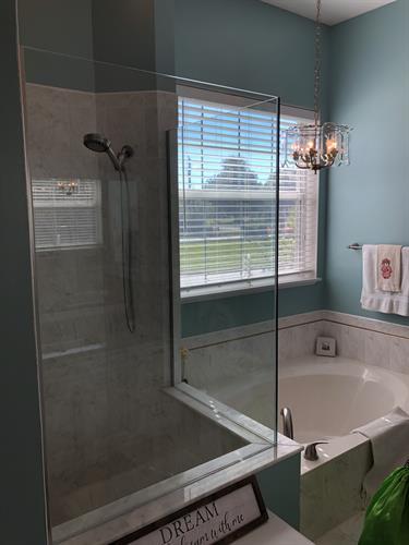 Hydroshield on shower glass