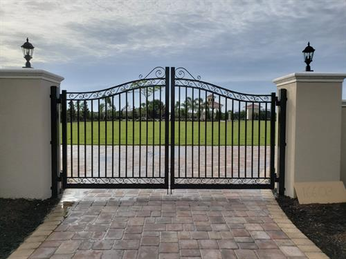 Custom Estate Gate Residential Install