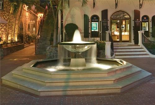 Stunning commercial cast iron fountain with lighting.