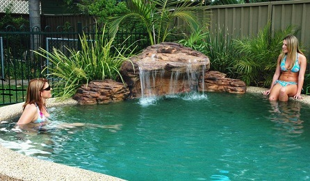 Revolutionary Engineered Rock waterfalls lightweight, super durable, American made w/5 yr. no leak warranty.