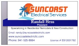 Suncoast Electrical Services Business Card