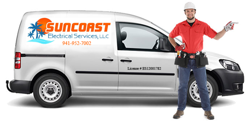 Suncoast Electrical Services Van