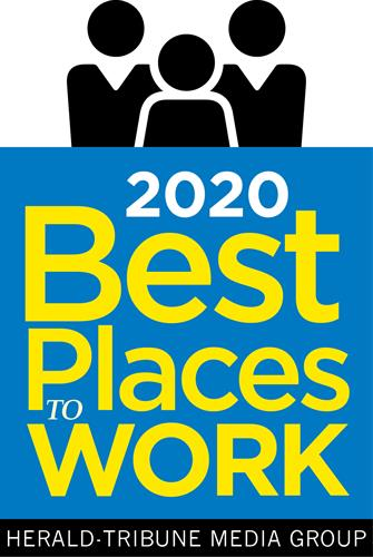 2019 and 2020 Best Places to work Sarasota/Manatee County