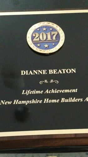 In 2017 I received the Life Achievement Award from the NH Home Builders Association for my years of dedicated service, I am so proud of this award.