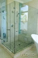3/8 Inch Thick Tempered Frameless Shower Door with Customized Panels