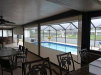 Screens with vinyl windows for clear view and retaing heat or cool air on the patio