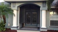 Textilene 80% solar for UV protection in a front entry way