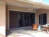 Super screen over sliding doors for insect protection