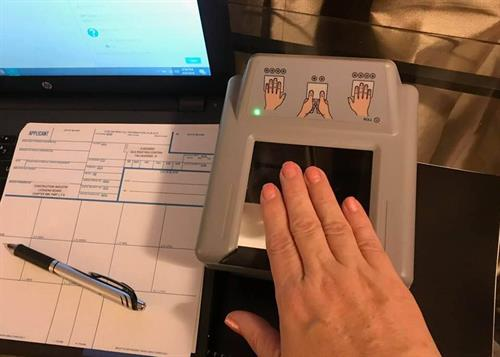 Live Scan Fingerprint Submission