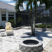 Paver Firepit and Patio