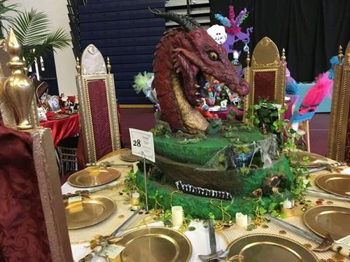 Dragon centerpiece and Thrones for CHAD Storybook Ball - Won Best Table Design