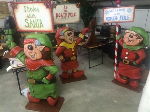 Semi Dimensional elf greeters for Stone Zoo
