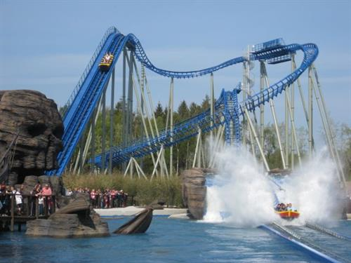 Water Coaster by Mack Rides - combines high speed coaster thrills with an exciting flume experience.