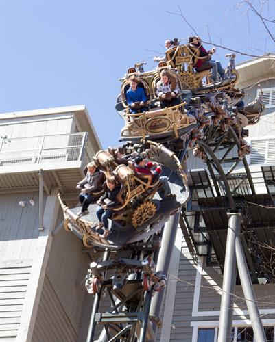 Time Traveler by Mack Rides - located in Silver Dollar City this is the first X-treme Spinning Coaster in the world!