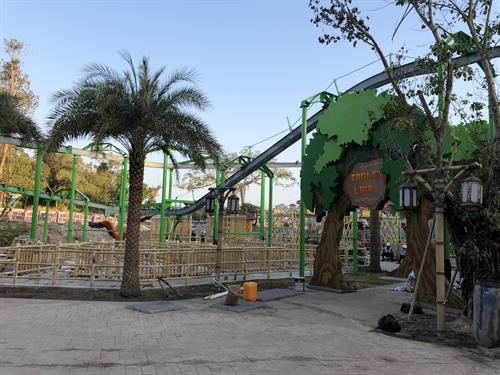 Entry to Cloud Coaster ride at Vinpearl Land in Vietnam