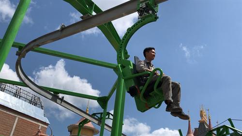 Cloud Coaster at Vinpearl Land in Vietnam