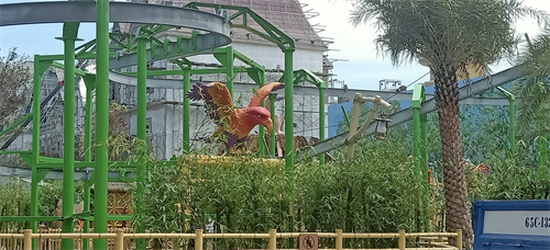 Theming around Cloud Coaster at Vinpearl Land in Vietnam
