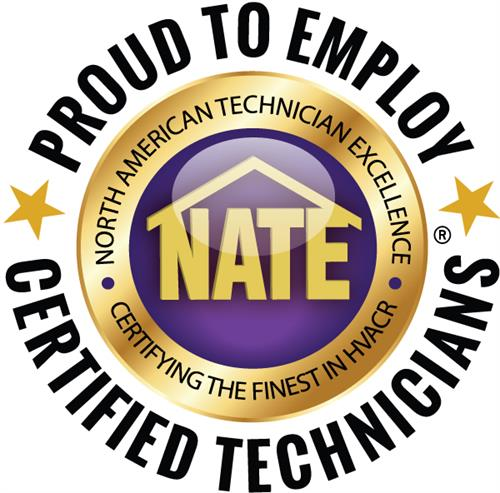 Regal works hard to have the best certified technicians. That's why we have earned the NATE Certified Technicians Seal. Expect the best from Regal.