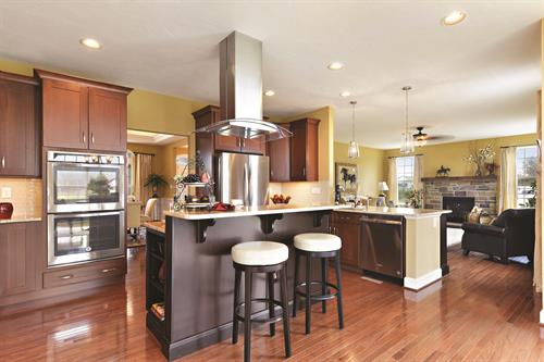 Custom Kitchen with Double Oven and Island