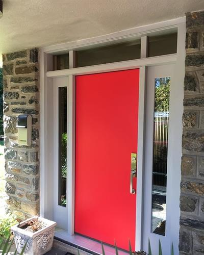Masonite Modern Door Finished Positive Red