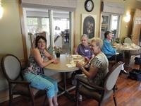 Eunice with participants on a Senior Tour of Homes