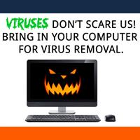 Viruses don't scare us! Bring in your Computer for Virus Removal.