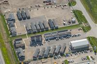 The aerial image of the Edmonton Sales Centre