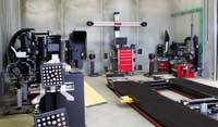 Automotive Wheel Equipment & Training Bay