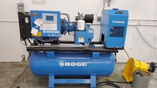 Boge C-20 Rotary Screw air compressor, one of many that we provide service and support for.