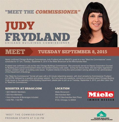Meet the Commissioner Event Flyer