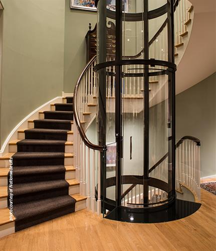 New Glass Style Home Elevator