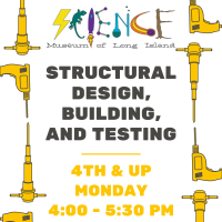 Afterschool Program Monday - Mar 2021 - Grades 4th and up - Structural Design, Building, and Testing