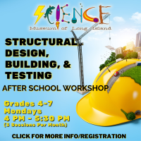 Afterschool Program Monday - Oct 2021 - Grades 4th and up - Structural Design, Building, and Testing