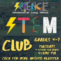 Afterschool Program Tuesday - Sept 2021 - 4th Grade and Up - STEM CLUB