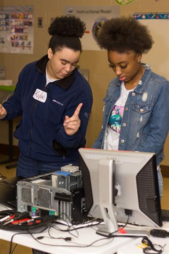 Innovators provide peer to peer instruction on computer repair
