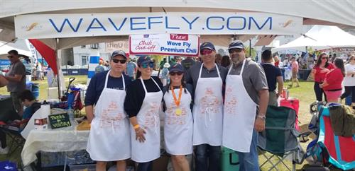 WaveFly team at Chili Cook-Off '19