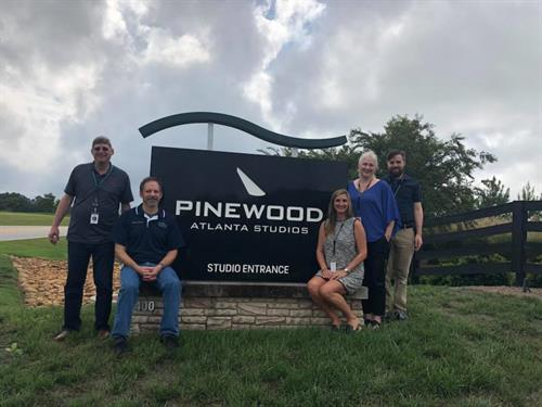 The WaveFly team at Pinewood Atlanta Studios