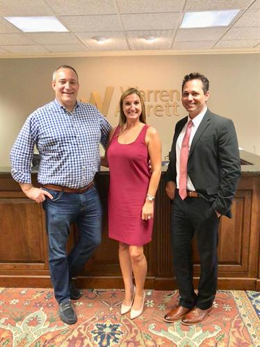 Mike Francis, Devon Harris, and Nick Calderone at a client meeting with Asset Black