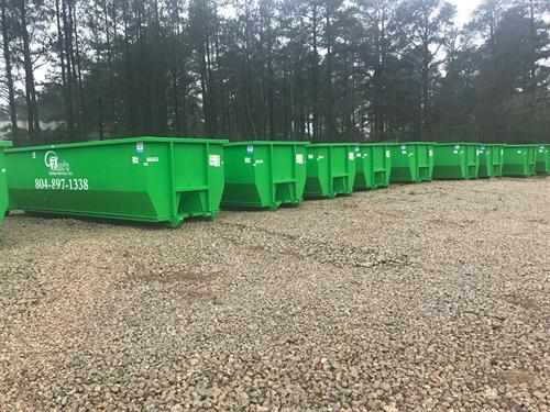 Huge Inventory of 30-yard dumpsters