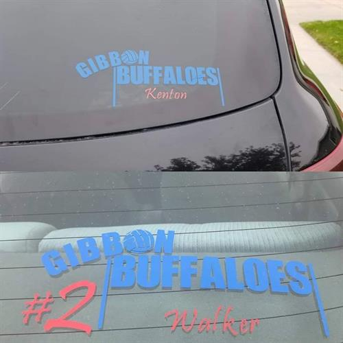 Gibbon Buffaloes Volleyball Decals