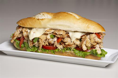 Gary's Chicken cheese-steak sandwich