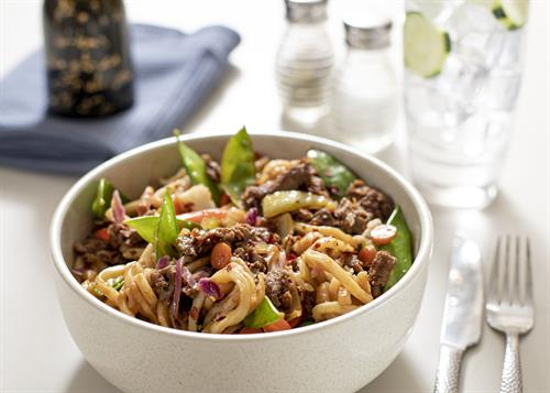 Steak noodle bowl